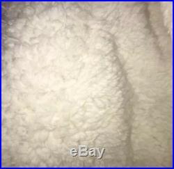 UGG Reversible QUEEN 3 piece sherpa Comforter Set Navy