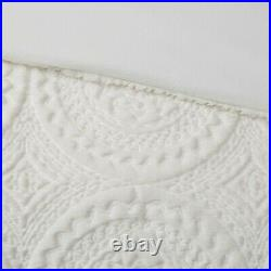 Ultra Plush Ivory Faux Fur Comforter Set Cream Mink Medallion Shag Long Hair