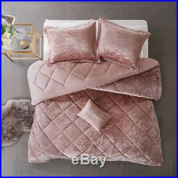 Ultra Soft Cozy Plush Modern Luxury Chic Velvet Chic Pink Girls Comforter Set