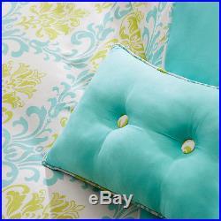 Ultra Soft Modern Girl Teen Aqua Teal Blue Green Cozy Comforter Set Full Queen