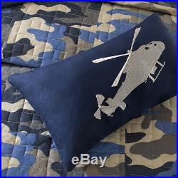 Ultra Soft Plush Camo Camouflage Blue Brown Grey Boys Comforter Set & Pillow