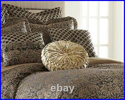 Valencia 9-piece Floral Jacquard Oversized Comforter Set or Curtain Set