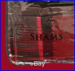 Veratex Red Wine Brown Queen Comforter 7P Set Shams Bedskirt Drapes Valance NEW