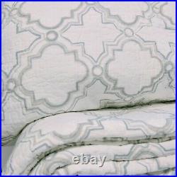 Vivian 100% Cotton Coverlet Bedspread Comforter Bedcover Set 3pcs Queen