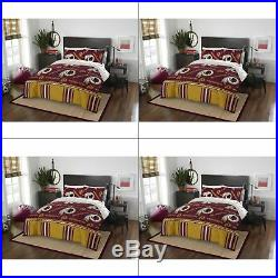 Washington Redskins NFL Queen 5 Piece Comforter Bedding Team Logo Bed in Bag Set