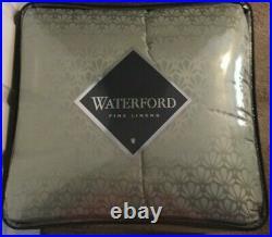 Waterford Fine Linens Aramis Aqua/Gold Reversible 4 Pc Queen Comforter Set NWT