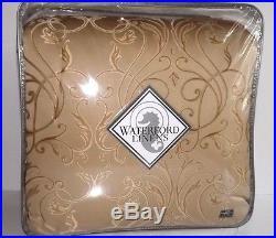 Waterford LYNATH 6PC Queen Comforter Shams Euros Bedskirt Set NEW Gold