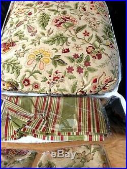 Waverly Imperial Dress Antique 100% Cotton QUEEN 4-Piece Bedding Comforter Set