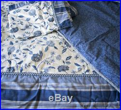 Waverly Williamsburg Nassau Vine Blue Queen Comforter Set with Spotswood Bedskirt