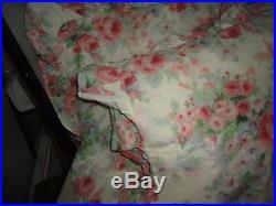 Westpoint Stevens Vintage Pink Floral Stripe (3pc) Full/queen Comforter Set